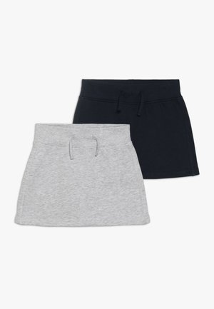 2 PACK - Mini skirt - dunkelk blau/nebel