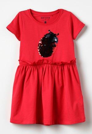 Jerseyklänning - hochrot