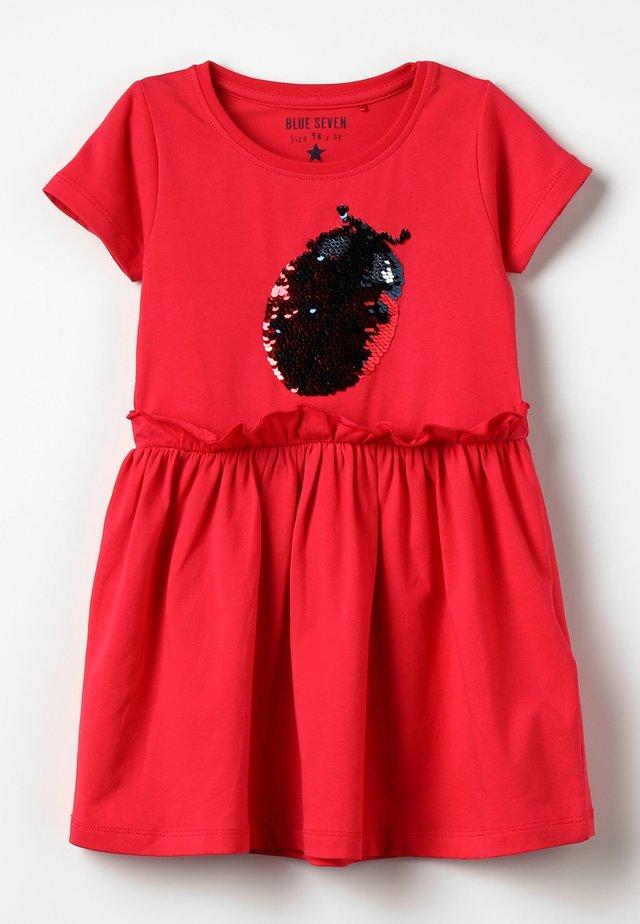 Jerseykleid - hochrot