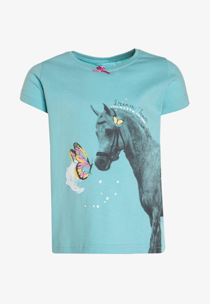 Blue Seven - T-shirt print - aqua