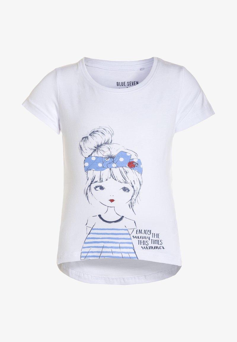 Blue Seven - T-shirt print - weiss