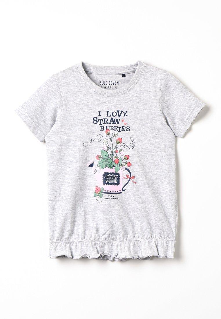 Blue Seven - Print T-shirt - nebel