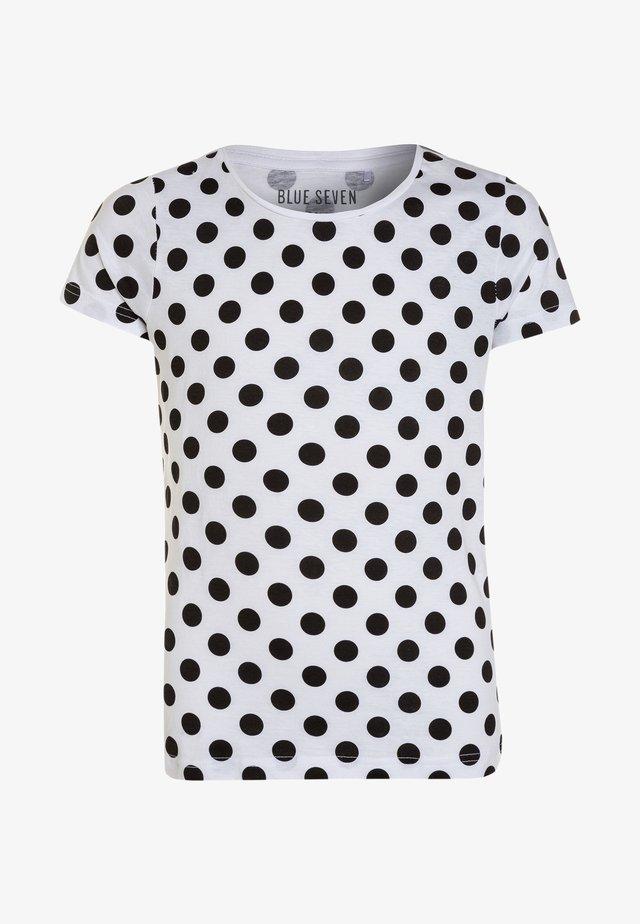 RUNDHALS - Print T-shirt - white