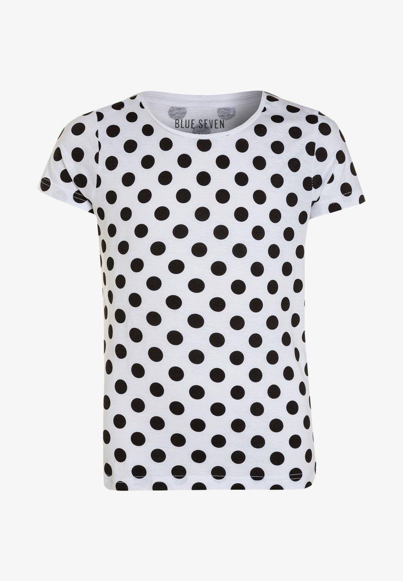 Blue Seven - RUNDHALS - T-shirts print - white