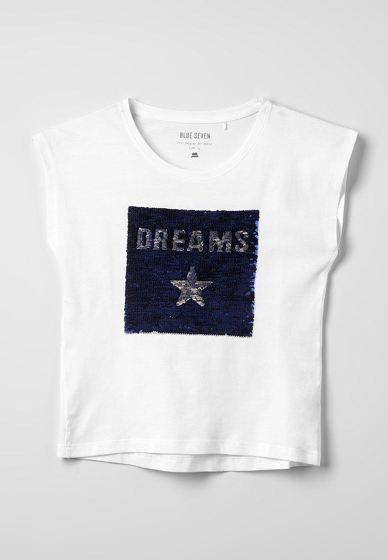 Blue Seven - RUNDHALS - T-Shirt print - weiss