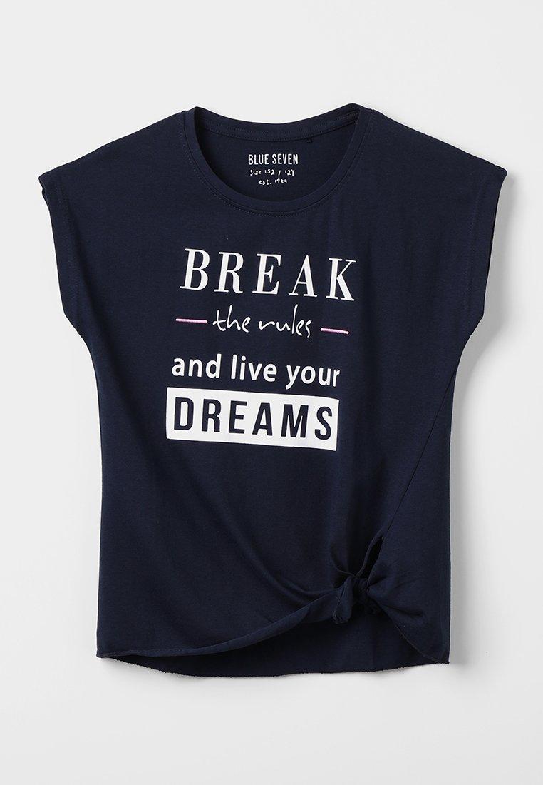 Blue Seven - RUNDHALS - T-shirt print - dark blue