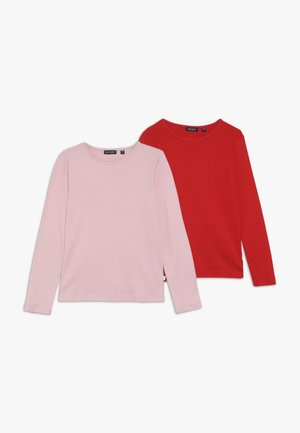 2 PACK - Long sleeved top - rot/rosa