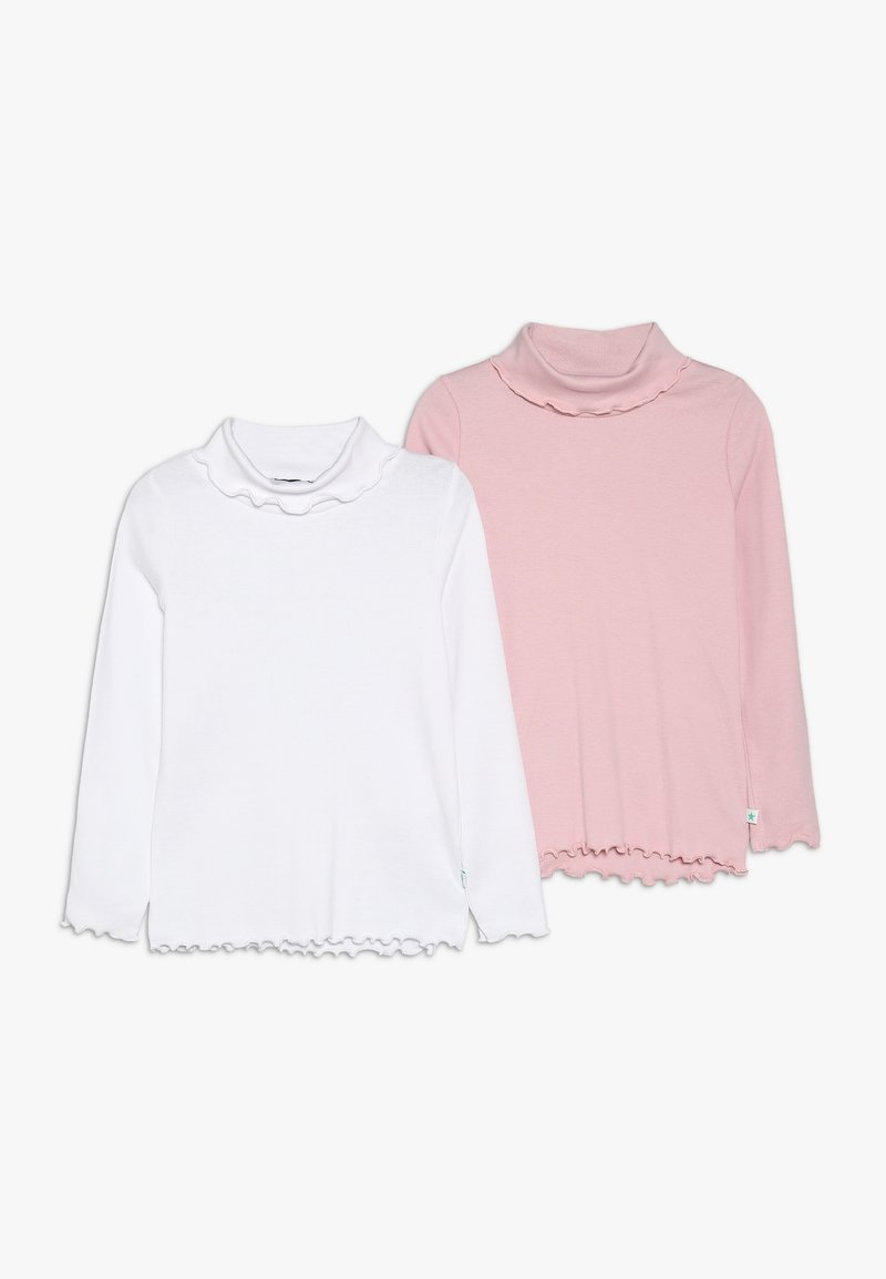Blue Seven - ROLLKRAGEN 2 PACK - Long sleeved top - weiß/rosa