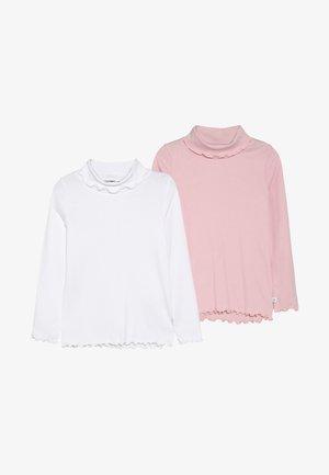 ROLLKRAGEN 2 PACK - Maglietta a manica lunga - weiß/rosa