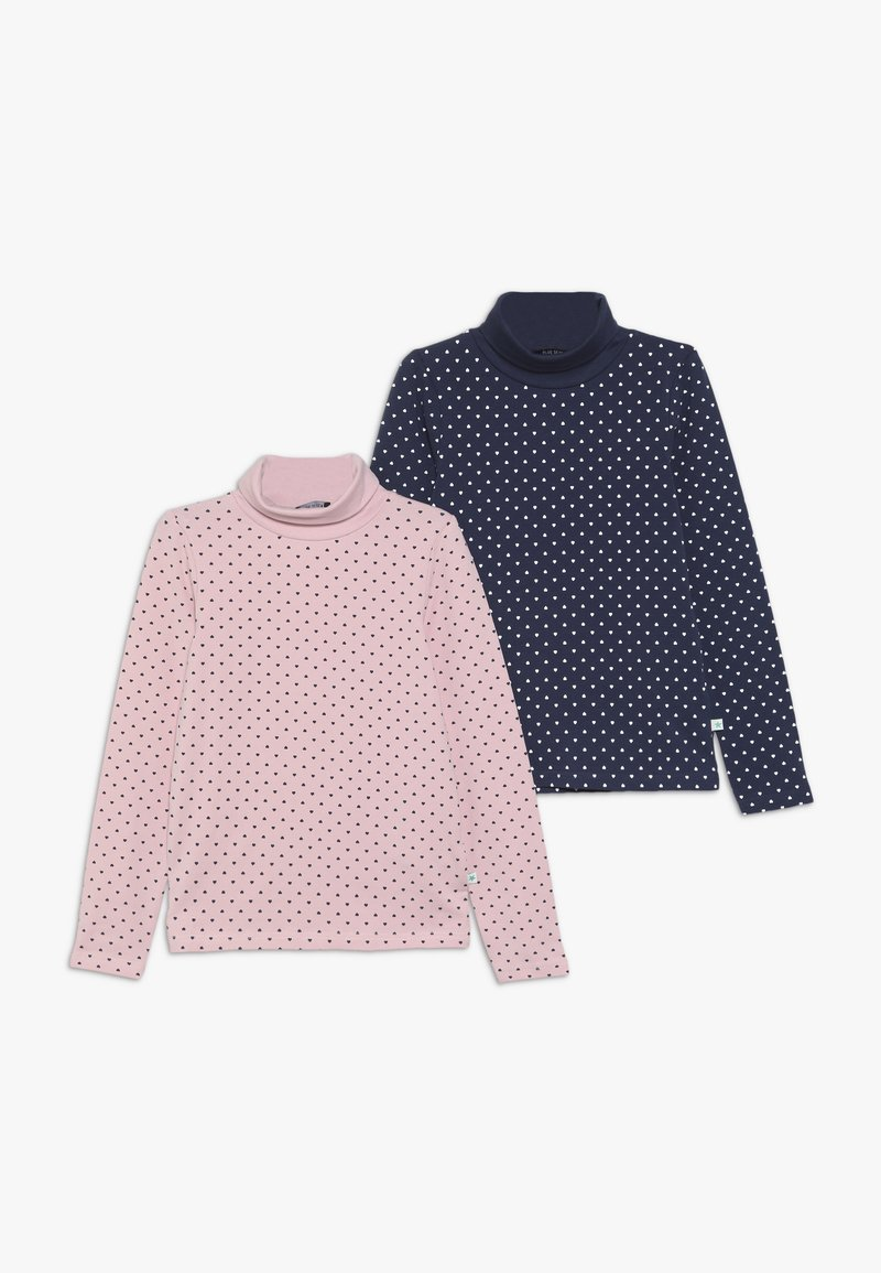 Blue Seven - 2 PACK - Long sleeved top - rosa/dunkel blau