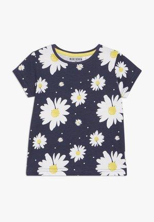 T-shirt med print - dunkel blau