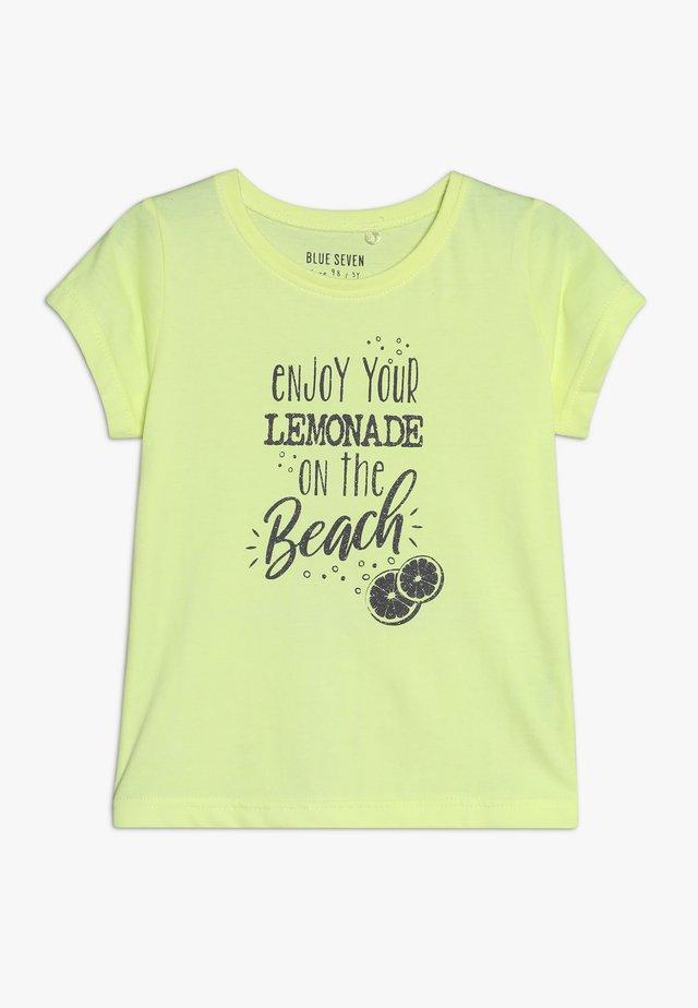 Camiseta estampada - neon lemon