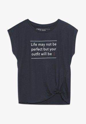 Camiseta estampada - dunkelblau