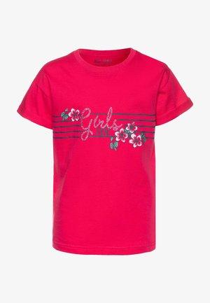 T-shirt con stampa - hochrot