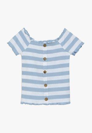 CARMEN AUSSCHNITT - Print T-shirt - hellblau
