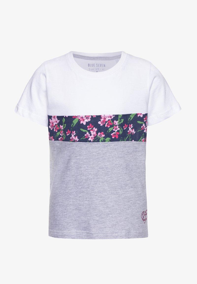 Blue Seven - Print T-shirt - weiß
