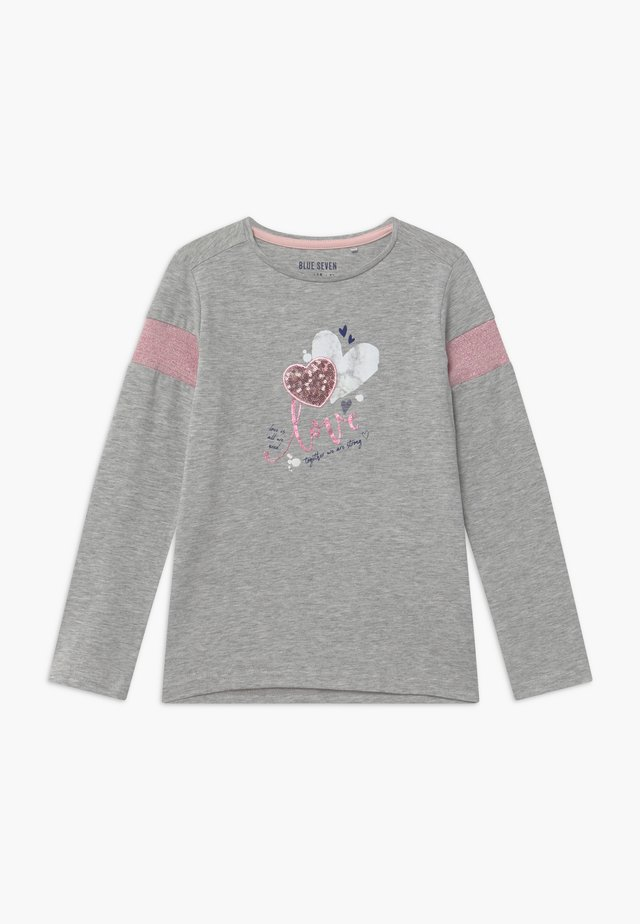 KIDS SEQUIN LOVE HEART - Maglietta a manica lunga - nebel