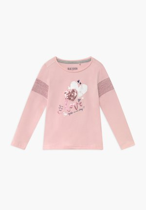 KIDS SEQUIN LOVE HEART - Long sleeved top - rosa