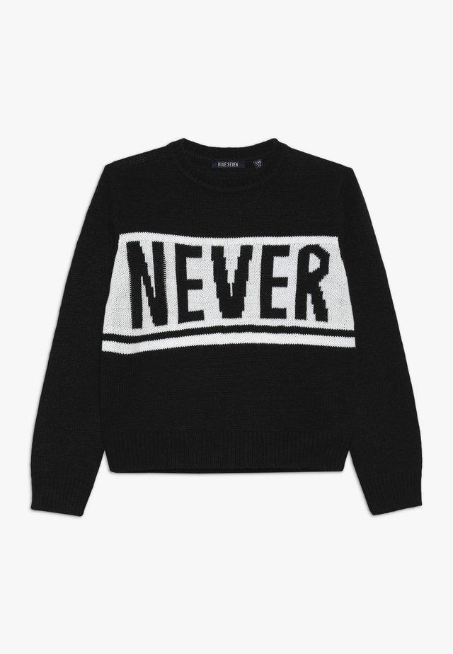 RUNDHALS - Pullover - schwarz
