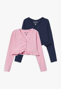 Blue Seven - BOLERO 2 PACK - Vest - rosa/dunkelblau - 0