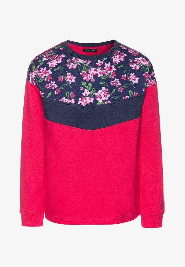 Sweatshirt - hochrot