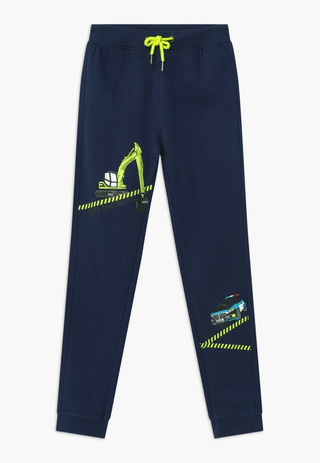KIDS POLICE CAR DIGGER - Tracksuit bottoms - blau