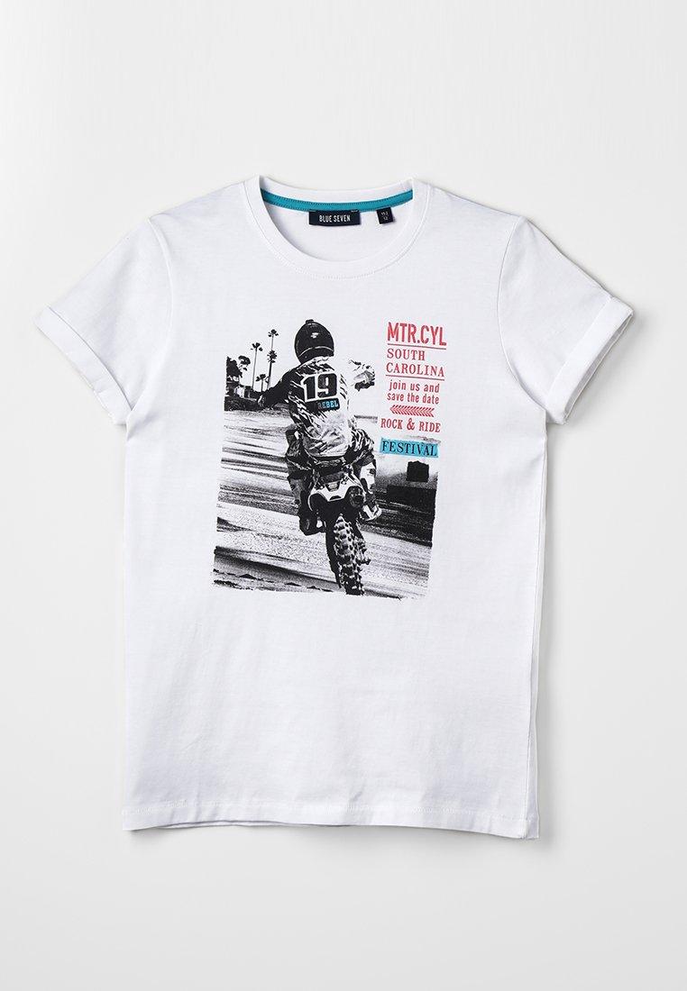 Blue Seven - RUNDHALS - T-shirt imprimé - weiss