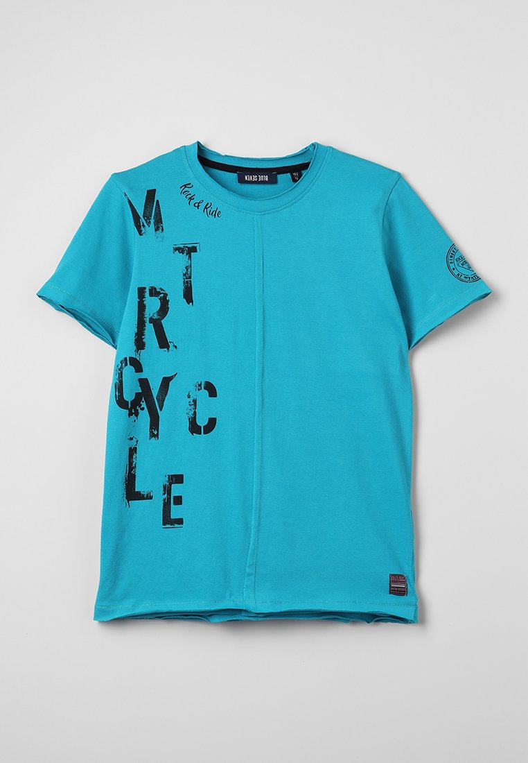 Blue Seven - RUNDHALS - T-Shirt print - lagune