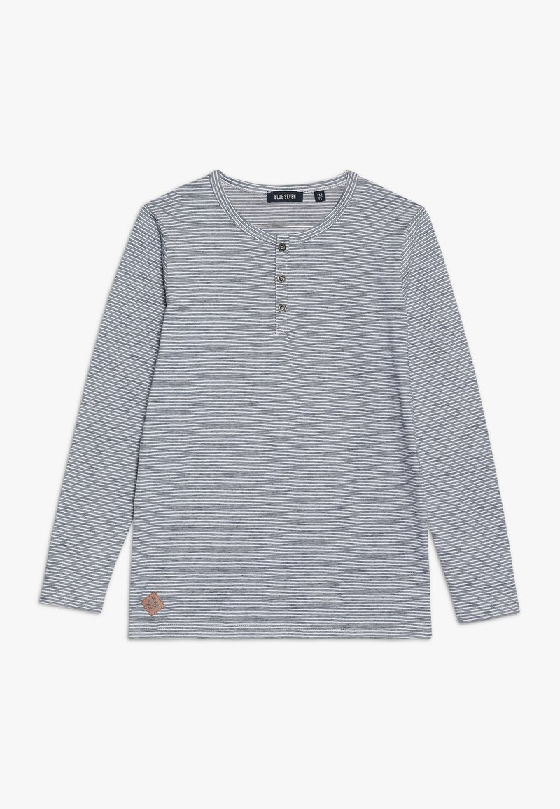 Blue Seven - HENLEY  - Long sleeved top - jeansblau