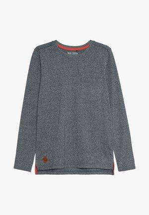Top sdlouhým rukávem - jeansblau