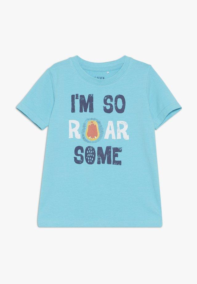 Camiseta estampada - cyan