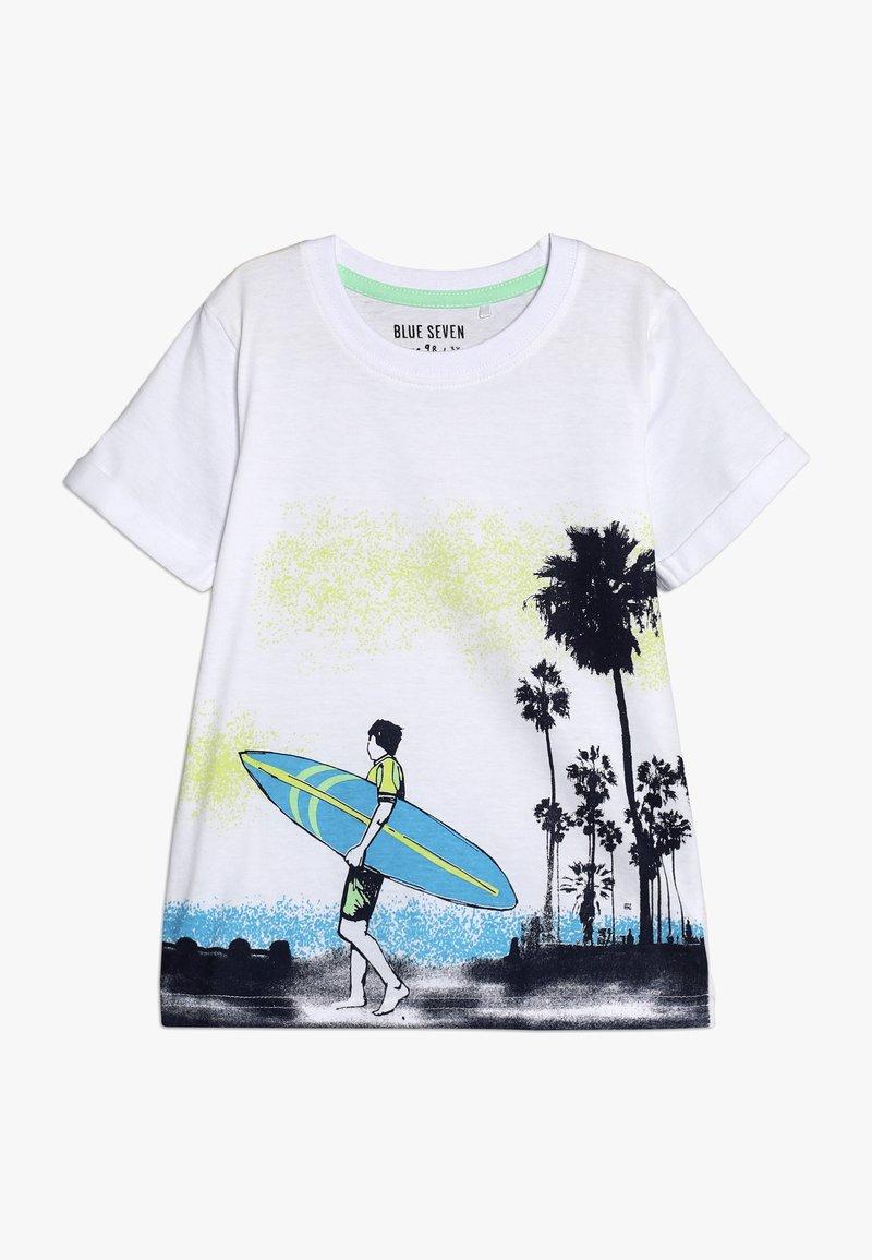 Blue Seven - Print T-shirt - weiss