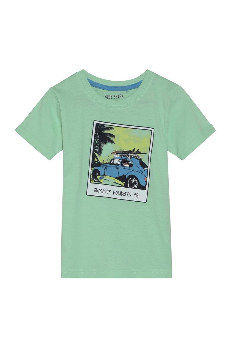 Blue Seven - Print T-shirt - hellgrün