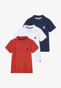 Blue Seven - 3 PACK - Polo shirt - weiß/dunkelblau/rot - 4