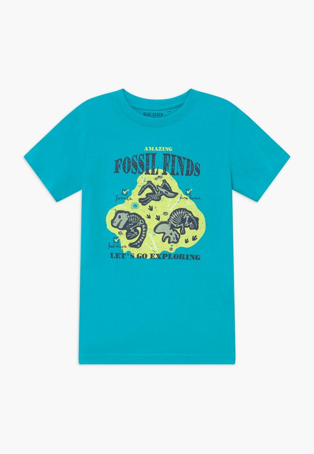 Print T-shirt - cyan