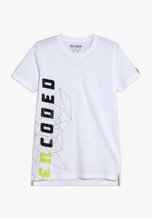 RUNDHALS - Camiseta estampada - weiss