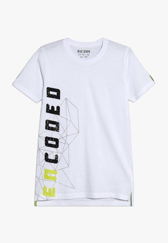 RUNDHALS - T-shirt imprimé - weiss