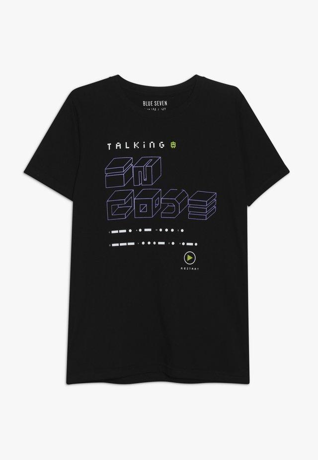 RUNDHALS - Print T-shirt - schwarz