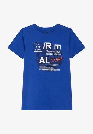 RUNDHALS - Print T-shirt - royal