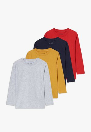KIDS BASIC MULTI 4 PACK - Longsleeve - nachtblau/honig original/nebel/rot original