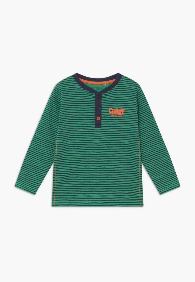 KIDS STRIPE HENLEY - Long sleeved top - apfel