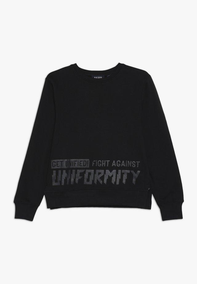 RUNDHALS - Sweatshirt - schwarz