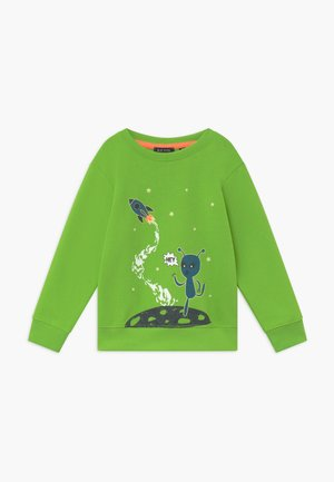 KIDS GLOW IN THE DARK ALIEN  - Sweatshirt - apfel