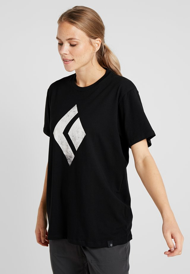 CHALKED UP TEE - Triko s potiskem - black