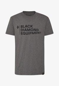Black Diamond - STACKED LOGO TEE - T-shirts print - charcoal heather - 4