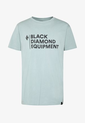 STACKED LOGO TEE - T-shirts print - blue ash