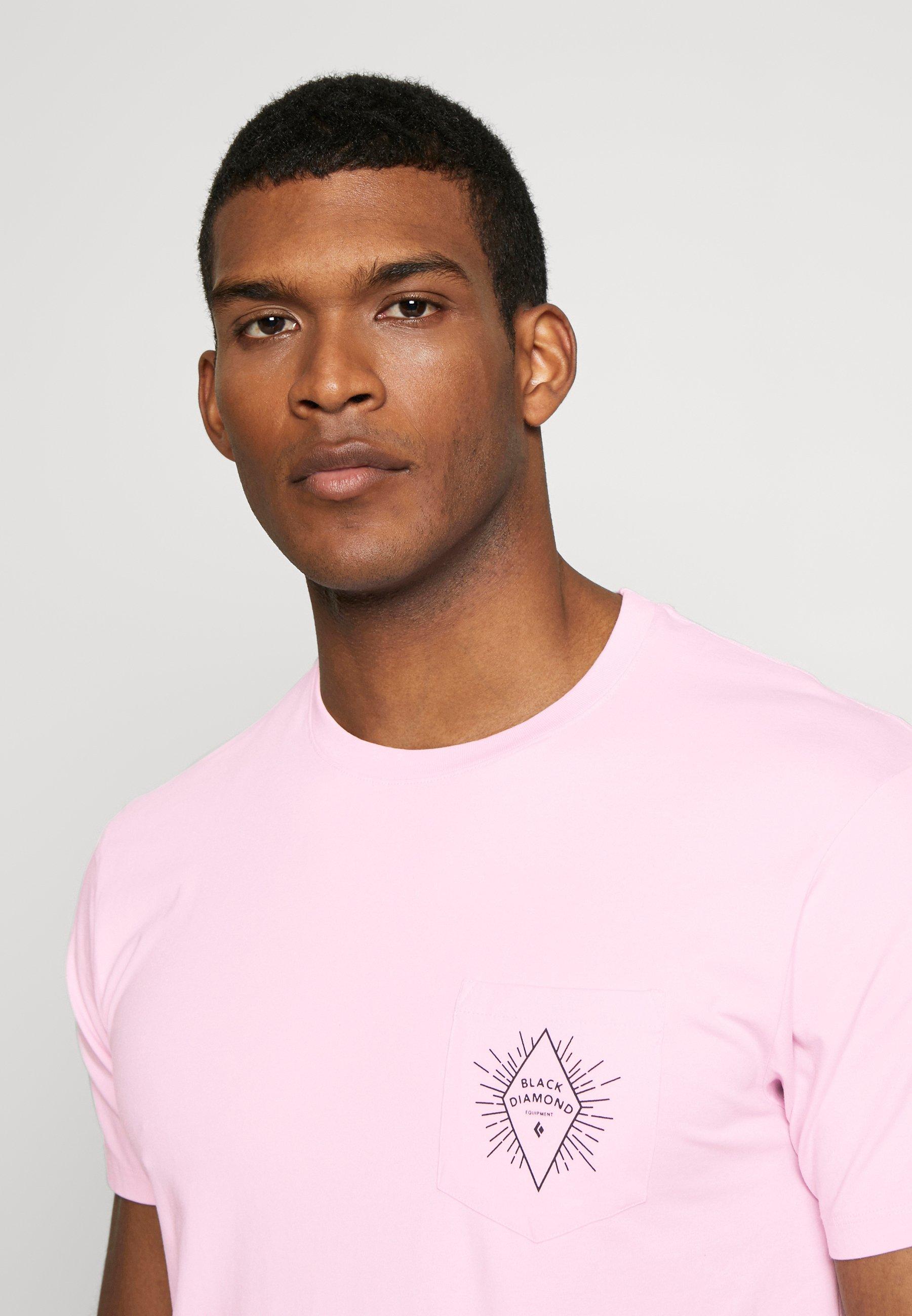 Black Diamond RAYS POCKET TEE - T-shirt z nadrukiem - himalayan salt