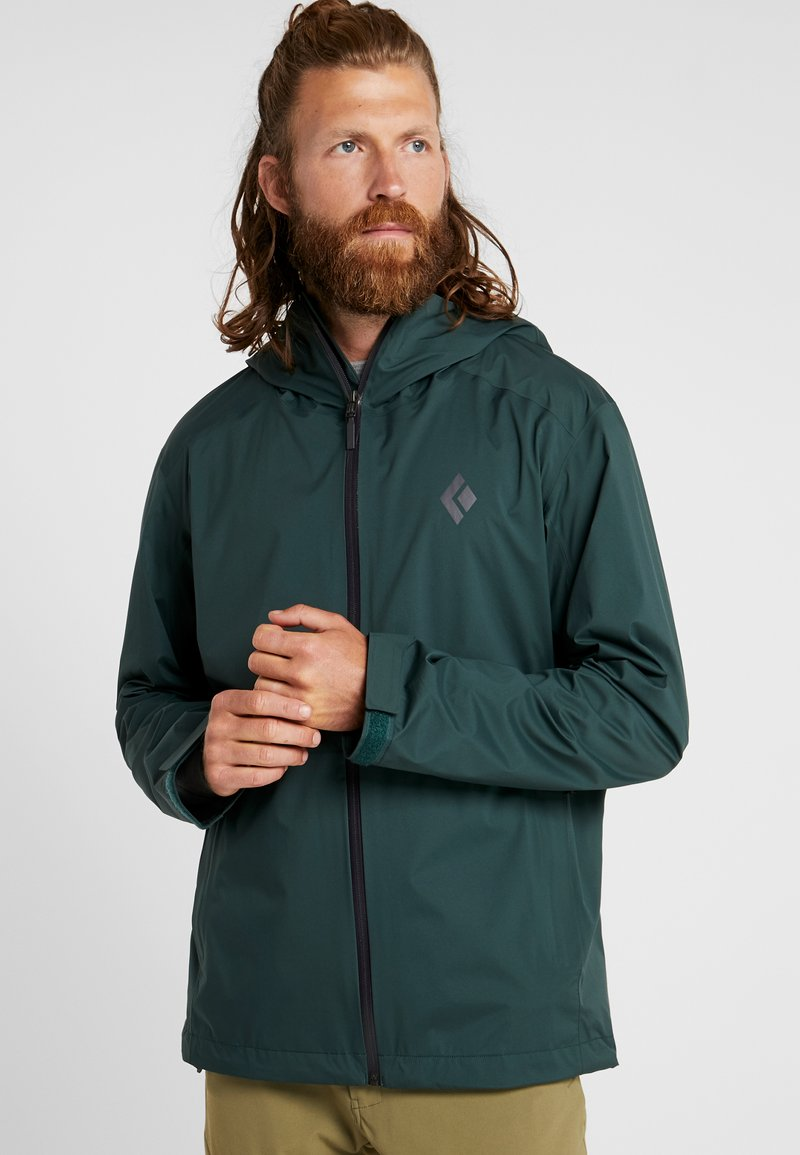 Black Diamond - STORMLINE RAIN  - Hardshell jacket - deep forest