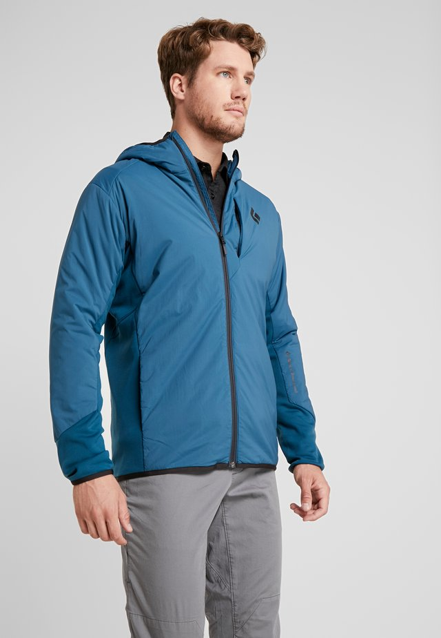 FIRST LIGHT HYBRID HOODY - Outdoor jacket - midnight