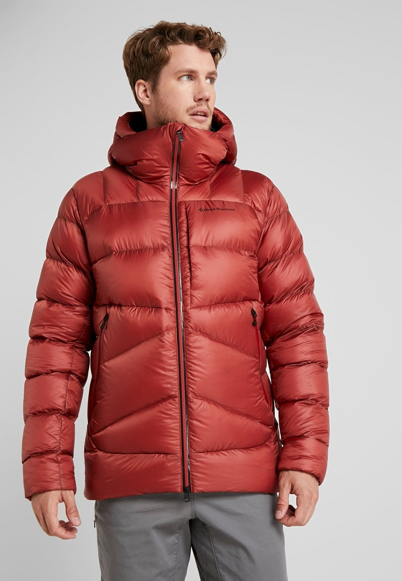 Black Diamond - VISION DOWN - Down jacket - red rock